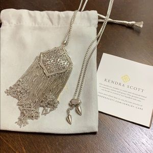 Kendra Scott Kingston Silver Long Pendant Necklace